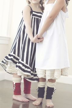 stripey dress and petticoat skirt. lurve.