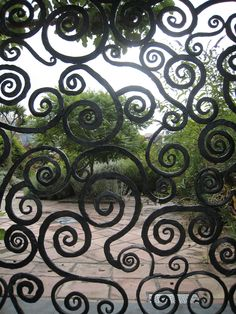 An Irish Smithy's work love the energy of the blows. Blacksmithing Expressionism -<3 Trinity College, Dublin