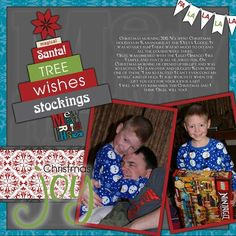 Christmas Joy Be Merry Digital Scrapbook Layout Page Idea from Creative Memories