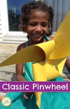 The paper pinwheel is a classic summer craft. http://www.greenkidcrafts.com/pinwheel/