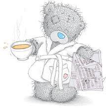 . teddi bear, tatti bear, morning coffee, coffee time, tatti teddi, mornings, osito, friend, newspaper
