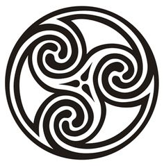Triple Spiral (celtic meaning) Represents the drawing of the three powers of maiden, mother and crone. It is a sign of female power and especially power through transition and growth... I'd like to incorporate something that has meaning... this obviously would.