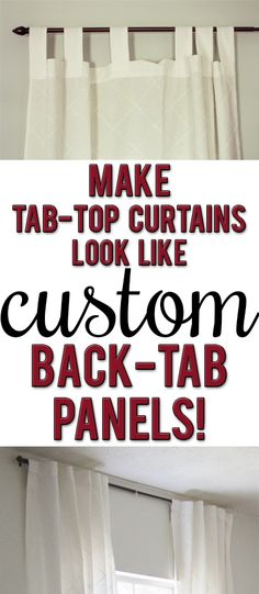 Tutorial: How to update out-dated tab-top curtains