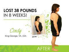 Cindy's 8 Week results