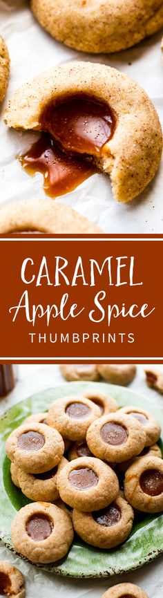Caramel Apple Spice Thumbprints | Sally's Baking Addiction