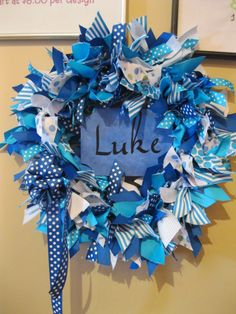 baby boy wreath - Google Search