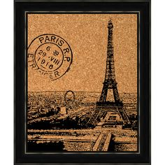 Tour d'Eiffel Cork Board at Joss & Main
