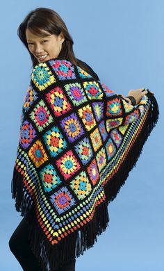 Crochet Granny Square Chic Afghan - Tutorial