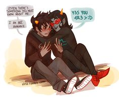 Karkat and Terezi Aww! So cute! Especially that Karkat is blushing!