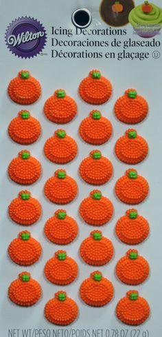 Mini Pumpkin Icing Decorations