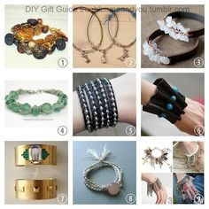 2013 True Blue Me & You DIY Gift Guide: Bracelets Part 1. These are DIY bracelets that you can make in time for the holidays. #diy #crafts #diy_bracelets #jewelry #diy_jewelry #tutorial