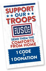 Help me spread the word and support our troops with #ComfortsfromHome! A project created by Marie Callender's for our amazing servicemembers through the USO!!