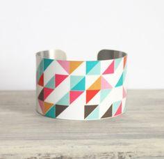 Lolly Metal Cuff Bracelet by PeaceLoveBeach on Etsy, $28.00