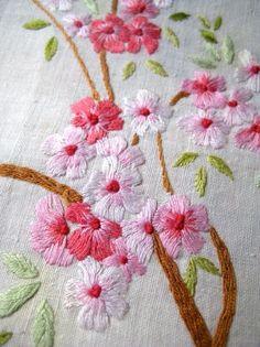 embroidered flowers @Af's 27/2/13