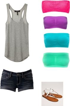 summer styles, summer wear, casual summer, summer looks, color, summer outfits, bandeau outfit, summer clothes, lazy summer days