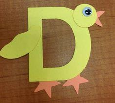 Duck Craft for letter D #alphabet #letterD #preschoolcrafts