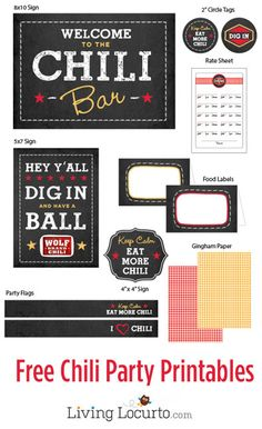 Free Chili Party Printables