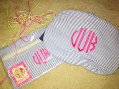 Monogrammed cosmetic bags -  Marley Lilly!