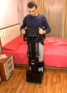 The next generation wheelchair that lets users stand up whenever they want.