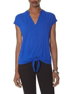 Casual Tie Front Tee from THELIMITED.com #TheLimited casual tie, tie front