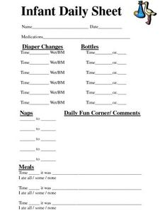 Baby Daily Sheet | Baby Daily Sheets http://sharepdf.net/view/104343 ...