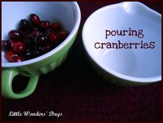 Cranberry Activities - Pinned by @PediaStaff – Please visit http://ht.ly/63sNt for all (hundreds of) our pediatric therapy pins
