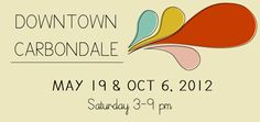 Applications Available - Carbondale, IL downtown Art & Wine Fair! Dates: May 19 & Oct 6 (Saturdays). This is a really fun event!! busi idea, retail booth, dates, colors, art fair, craft showsretail, fonts, newest design, soil