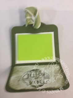 Stampin Up! Mini Post It Note (inside)