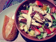 Strawberry poppyseed and chicken salad