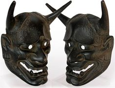Hannya  Demon Mask  Origin: Japan, Circa: early 20th Century  H 9.25 in.(23.5cm), W 6.75 in.(18cm), D 3 in.(7.5cm)