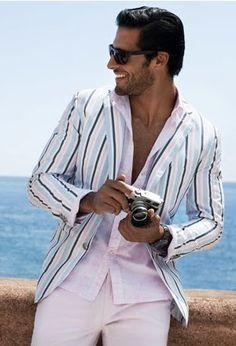 Epitome of summer 2013. Men suit. Men fashion