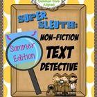 Non-Fiction Text Detectives (Summer)