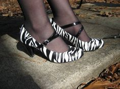 I would wear these with everything.... zebra print