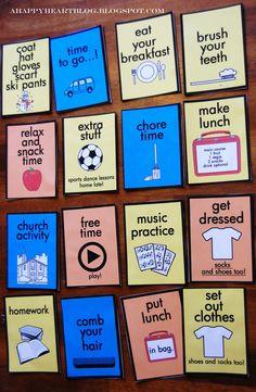 printable kids daily routine