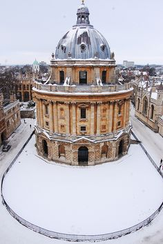 Snow in Oxford, England