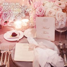Check out Colin's Answer: What should I do if my dream wedding idea and budget conflict?