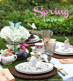Spring Garden Tablescape