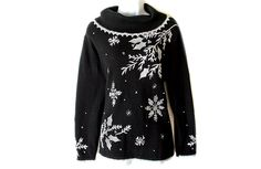 Longer Length Big Collar Tacky Ugly Christmas Sweater Women's Size Large (L) $25