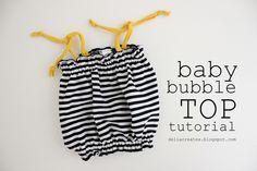 delia creates: Baby Bubble Top Tutorial