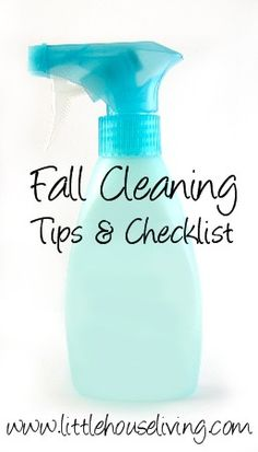 Fall Cleaning Tips + Free Printable Checklist!