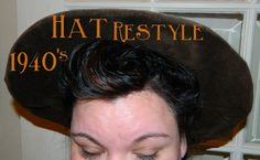 DIY:Turn a modern floppy hat into a 1940s large brim hat!!! Not really a hair or makeup pin per se BUT I thought Id pin it here since Ive pinned 1940s hat hair. Now, if you are unable to find your own fabulous 1940s hat to go with your 40s hair, you can make your own!