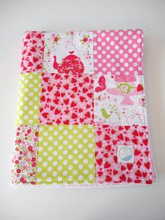 Minky Baby Girl Patchwork Quilt Blanket Strawberry Tea Party Michael Miller--Ready to Ship on Etsy, 59,00 $