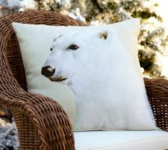 Polar Bear Indoor/Outdoor Pillow Pottery Barn