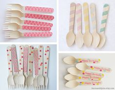 Wooden utensils! Preppy and pretty. Old-fashioned and eco-friendly.