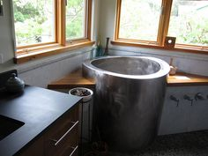 Wow! They have soaking tubs made out of metal. We would prefer a soaking tub that would fit two people.
