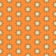 little_suns_orange fabric by holli_zollinger on Spoonflower - custom fabric (nursery)