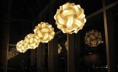 studio, puzzl light, hanging lights, infin light, light fixtures, light photo, art, lustrous light