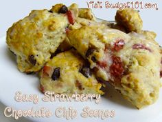 Scones are a quick grab n go breakfast or a weekend treat with your morning coffee. Make your own Strawberry Chocolate Chip Scones (click on photo for recipe)