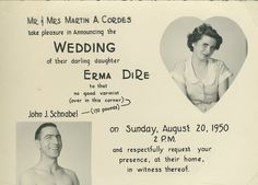 The actual 1950 wedding invitation of John Schnabel from @Discovery Channel's #GoldRush