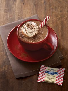 Mocha & Peppermint Bark, a holiday favorite! | http://www.ghirardelli.com/store/shop-products/collections/peppermint-bark/milk-peppermint-bark-80-count-squares-chocolates-gift-bag.html?utm_source=Pinterest&utm_medium=Social&utm_campaign=peppermintbark